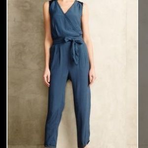 Anthropologie Blue Leifsdottir Sani Lace Jumpsuit